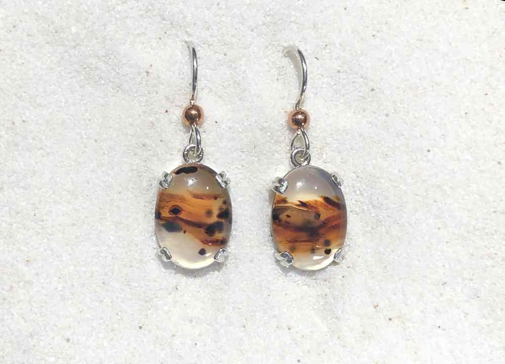 Montana Agate drop earrings