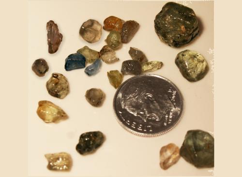 Sapphire Gravel 5 Pack - Montana Gems of Philipsburg