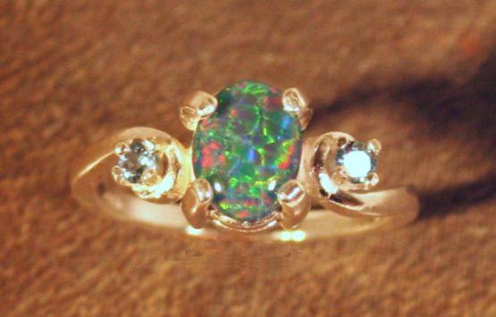Idaho Opal and Montana Sapphire swirls