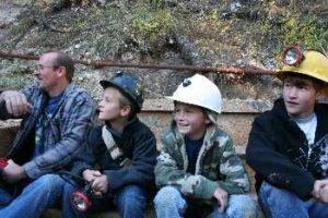 Kids in Yogo Mining cart