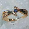 Yogo ring 14k diamonds offset