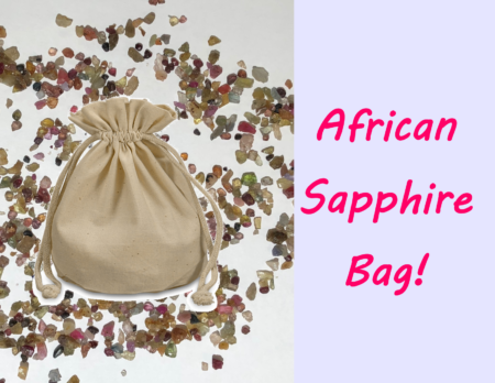 African sapphire bag
