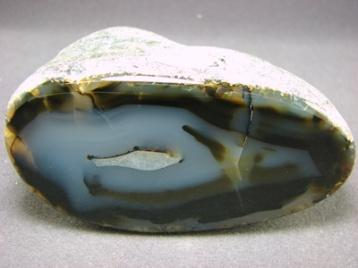 A Cut Agate. Agates in general come in many different forms and are formed in at least five different ways.
