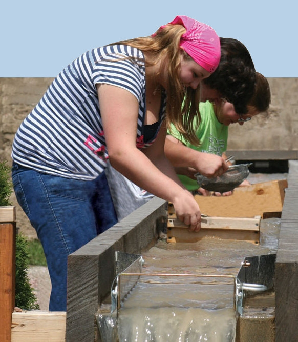 Flume Washing Gem Gravels at Montana Gems in Phillipsburg, Montana
