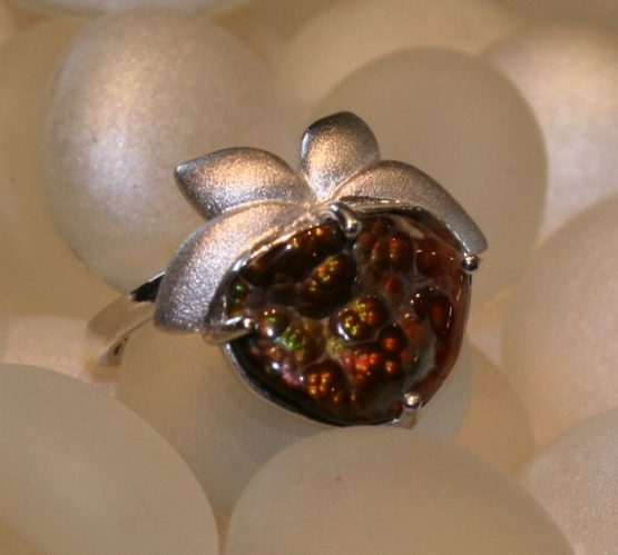 Botanical Mexican Fire Agate Ring