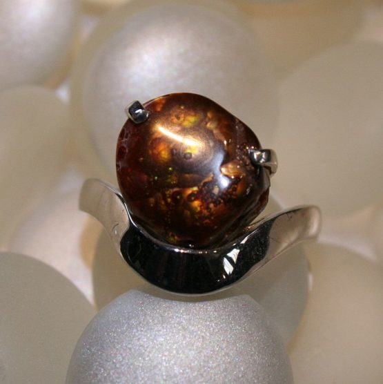Mexican Fire Agate Ring