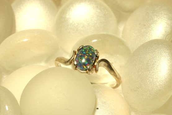 Simple Opal Ring