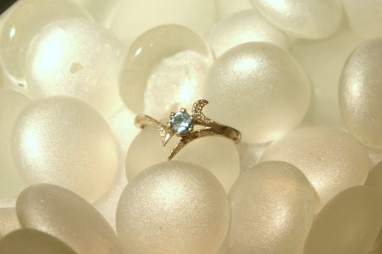 Contemporary Montana Sapphire Ring