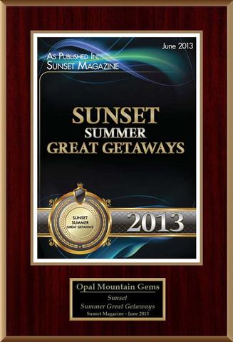 Sunset Magazine Great Summer Getaways Award 2013